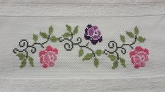 This Pin was discovered by Gül Beaded Cross Stitch, Cross Stitch Borders, Cross Stitch Flowers, Cross Stitch Charts, Cross Stitch Designs, Cross Stitch Embroidery, Cross Stitch Patterns, Custom Embroidery, Embroidery Patterns