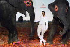 Lakshmi Menon for Hermès Spring/Summer 2008 campaign. Shot by Thierry Le Goués.