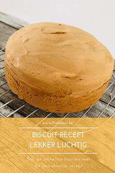 Biscuit recept - luchtige taart maken met biscuitdeeg. Taart bakken gemakkelijk gemaakt! Dutch Recipes, Sweet Recipes, Food Cakes, Cupcake Cakes, Biscuits, Pear Cake, Cake Cookies, Cake Decorating, Sweet Treats