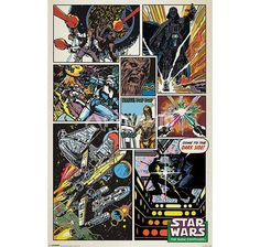 Star Wars Poster Retro Comic Collage. Hier bei www.closeup.de
