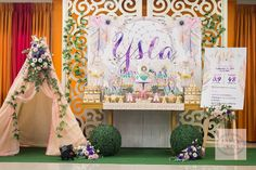 Ysla's Boho Chic Themed Party – Dessert Spread - Party Doll Manila