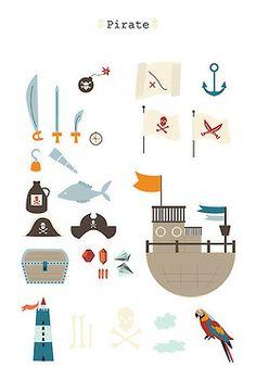 © Bérengère Denfert Pirate // illustration // kids