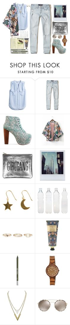 """""""// ripped //"""" by nosleeptilbrooklyn ❤ liked on Polyvore featuring H&M, Hollister Co., Jeffrey Campbell, Sarah Baily, Polaroid, SOPHIE by SOPHIE, Seletti, Warehouse, Moleskine and William Morris"""