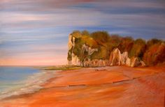 St Margaret's Bay - Kent - Acrylic, by Le Leu Cloake. Roots And Wings, St Margaret, Saints, England, Garden, Painting, Sweet, Art, Candy