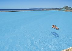 The San Alfonso del Mar seawater pool in Algarrobo, Chile, developed by Fernando Fischmann, is recognized as the world's largest swimming pool.