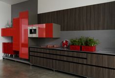 Kitchen by S.C.A. #red #decor