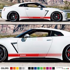 Stripe Kit Sticker Decal Graphic for Nissan GTR R35 Flare Headlight Chrome Grill