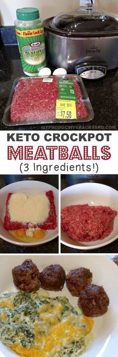 Marvelous This easy crockpot meatball recipe is low carb, keto and made with just 3 ingredients! Ground beef, parmesan cheese, and eggs. So simple and delicious! The post 3 Ingredient Crockpot Meatballs (KETO!) appeared first on Lully Recipes . Keto Crockpot Recipes, Low Carb Recipes, Diet Recipes, Cooking Recipes, Healthy Recipes, Meatball Recipes, Diet Meals, Recipies, Turkey Recipes
