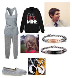 """""""Sick Day with Robbie Kay"""" by taylormaliklove ❤ liked on Polyvore featuring Monrow, NIKE, TOMS and Disney"""
