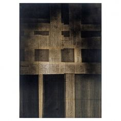 "FAUSTINO AIZKORBE ""IMPRONTA""  Técnica collage de papel sobre tablero de madera. Medidas: 105 x 75 x 4 cm."