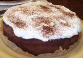 Chocolade wolken taart