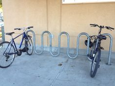 wave style bicycle rack