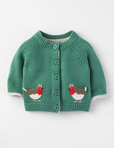 Robin Festive Cardigan, 2-3 years