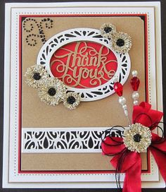 PartiCraft (Participate In Craft): Rustic Floral Thank You - 18th June 2015 - with video Tutorial