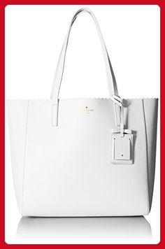 f112827ce kate spade new york Cape Drive Hallie Tote Bag, Bright White/Porcelain, One