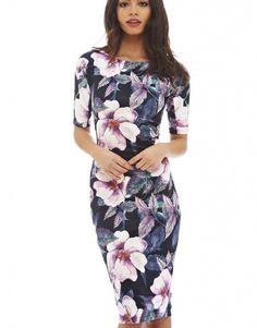 Goedkope Vrouwen Vestidos Designer Elegante Bloemenprint Werken Business Casual…