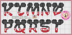 Resultado de imagem para alfabeto mickey ponto cruz