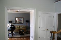 Two tone wall paint design benjamin moore 39 s van deusen for Interior design 07960