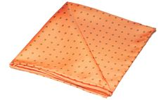Printed Silk Pocket SquareCoral Orange with Khaki Green Small Polka Dots~ With Hand Rolled Edges ~Made From 36oz 'Extra Soft' Silk Twill 100% Pure Silk • Dry Clean Only Hand Printed & Made in England Dimensions: 30cm x 30cmPair with YUKI Crava...