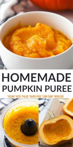 Learn how to make pumpkin puree at home, a must-have for fall and winter! Homemade Pumpkin Puree is super easy to make with just one sugar pumpkin and perfect whether you're making pumpkin pie, pumpkin bars or pumpkin cheesecake. Skip the store-bought canned pumpkin and never worry about a pumpkin shortage with this homemade version. Freezer-friendly, guten-free, vegan, dairy-free, low carb, keto and Whole30 compliant.