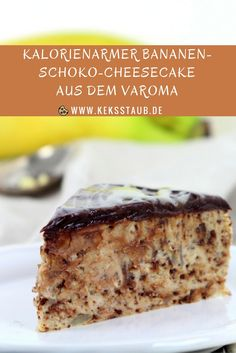 {TM-Donnerstag} kalorienreduzierter Bananen-Schoko-Cheesecake aus dem Varoma Klitzekleine calories but mega taste! – Low-calorie banana chocolate cheesecake from the Thermomix Varoma Low Calorie Desserts, No Calorie Foods, Home Bakery, Cake & Co, Chocolate Cheesecake, Banana Cheesecake, Sweet Cakes, Fabulous Foods, Banana Bread