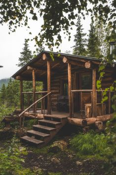 Alaska Cabin, Alaska House, Small Log Cabin, Cozy Cabin, Cabin Tent, Camping Cabins, Forest Cabin, Forest House, Cabins In The Woods