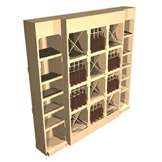 Fine wine display cabinet using Artisan Crate wine crates. 2.5m wide and 2.4m high