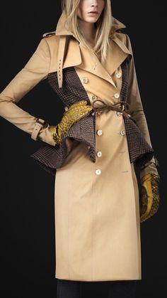 Burberry - Wool Peplum Trench Coat