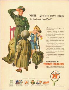 1945-Texaco`Art, Attendant, children-WWII era-Vintage Ad in Collectibles | eBay
