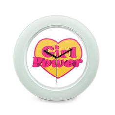 BigOwl | Girl Power Heart Illustration  Table Clock Online India at BigOwl.in