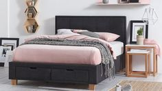 Home :: Bedroom :: Beds :: Bed Frames :: Halo Bed Frame with Storage - Charcoal