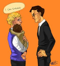 Good Omens and Supernatural. Because a little Cas (Jimmy?) would be cute as heck. And then I think I would die.