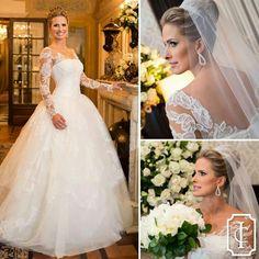 vestido de noiva 2015 long sleeve wedding dresses bridal gown