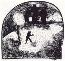 The house on the forest edge - Marc Chagall