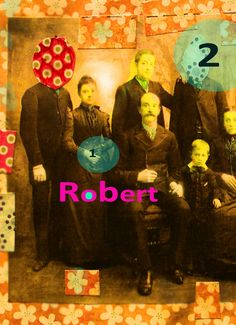 Créations Lafillecitron mix média Robert