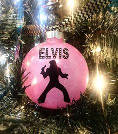 Elvis Presley King of Rock and Roll Pink by MelissasHomeDecor