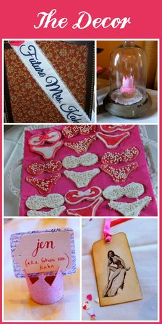 Lingerie cookies --These ones aren't decorated very well, but a cute idea for a bridal shower or bachelorette party