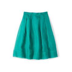 Boden Pandora Skirt ($74) ❤ liked on Polyvore featuring skirts, boden, blue floral skirt, blue skirt, floral skirt and floral print skirt
