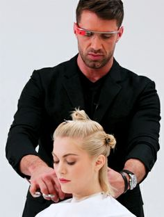 Thanks to Google Glass and Matrix, You Can Get a Hair Tutorial From Your Stylist's Perspective #InStyle