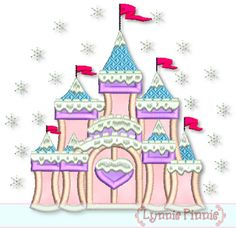 Embroidery Designs - Fancy Winter Castle Applique 4x4 5x7 6x10 7x11 - Welcome to Lynnie Pinnie.com! Instant download and free applique machine embroidery designs in PES, HUS, JEF, DST, EXP, VIP, XXX AND ART formats.