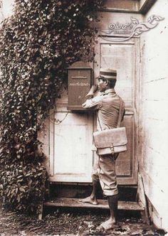 Postman in Siam (Thailand) in Rama V period (around 1900s)