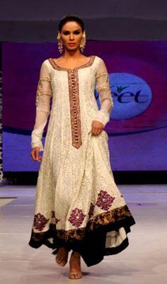 White embroidery - Zara Shahjahan