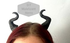 Here are some #DIY #Maleficent horns using polymer clay. Get your evil sorceress on!