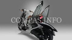 Скутер-жук  http://compas.info/%d1%81%d0%ba%d1%83%d1%82%d0%b5%d1%80-%d0%b6%d1%83%d0%ba/ Японцы создалискутер с невероятным дизайном. Новое городское транспортное средство имеет крылья, совсем как у жука! Более того, во время езды, эти крылья «расправляются», но не в стороны, авверх.  скутер-жу