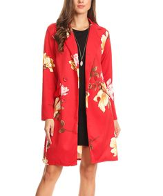 Red & Yellow Floral Jacket - by Nema Avenue