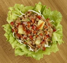 Pei Wei: Sriracha Pineapple Pork Lettuce Wraps - Diethood