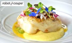 Cod with parsnip purée and cucumber recipe by professional chef Simon Hulstone, The Elephant restaurant, Torquay Simon Hulstone, Chef Simon, Parsnip Puree, Cucumber Recipes, Cod Recipes, Best Chef, Professional Chef, Seafood, Elephant