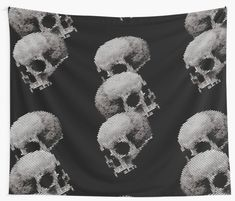 Skulls' Tapestry by Ikaroots Floor Pillows, Throw Pillows, Works With Alexa, Canvas Prints, Art Prints, Dinnerware Sets, Contemporary Decor, Handmade Crafts, Wall Tapestry