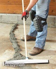 DIY: Concrete Crack Repair.  You can fix many concrete cracks yourself! - The Family Handyman