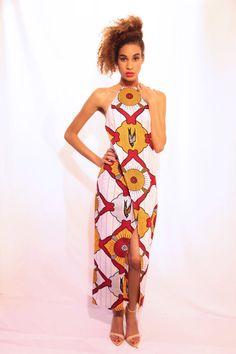 Hey, I found this really awesome Etsy listing at https://www.etsy.com/listing/169959395/african-print-halter-dress